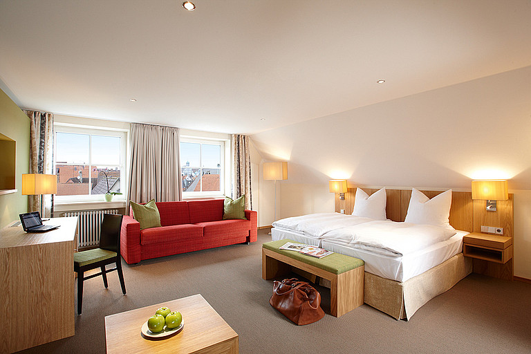 Cosy and stylish rooms for to at the four-star Hotel Falken