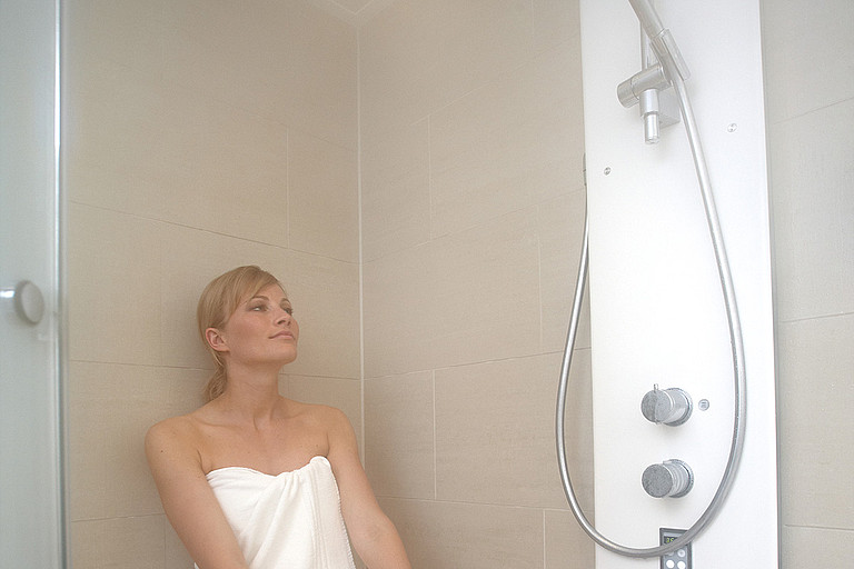 All our suites have an steam bath shower included