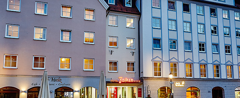 Four-star Hotel Falken in the centre of Memmingen